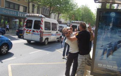 25 juin 2009 : Arrestation sur le boulevard La Fayette, Calais.