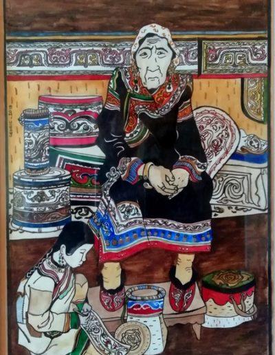 Vieille Yakoute et sa petite-fille