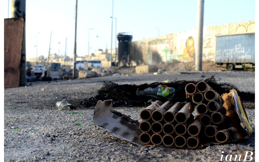 Passages et affrontements à Qalandia – 2014