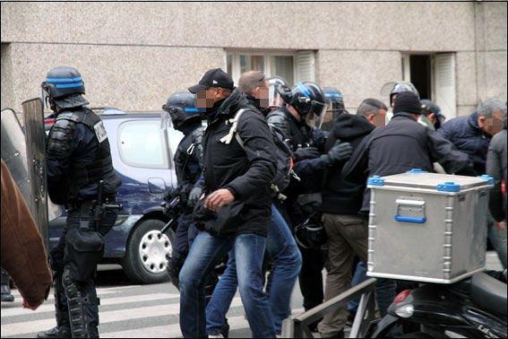 8 novembre 2014 – Passage à tabac par les agents de la BIVP, Paris.