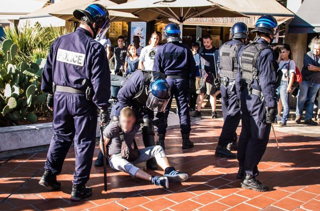 28 septembre 2019 : Arrestation devant le Polygone, Montpellier
