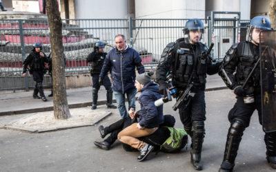 17 mars 2016 : Arrestation devant l'université de Tolbiac, Paris